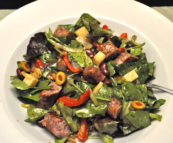 and peppers with this delicious paleo sausage and peppers salad