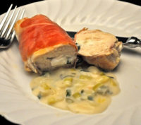 Chicken Breasts Stuffed with Goat Cheese