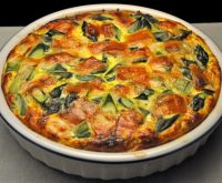 Turkey Asparagus Quiche
