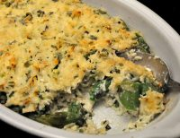Rice and Asparagus Gratin