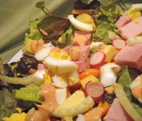 Garden Salad, Thousand Island Dressing