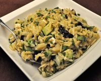 Lemon Orzo with Avocado and Fresh Herbs