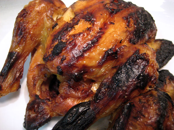 Brined, Grilled Cornish Hens