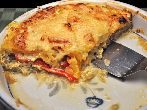 Ham, Tomato, Pepper Quiche
