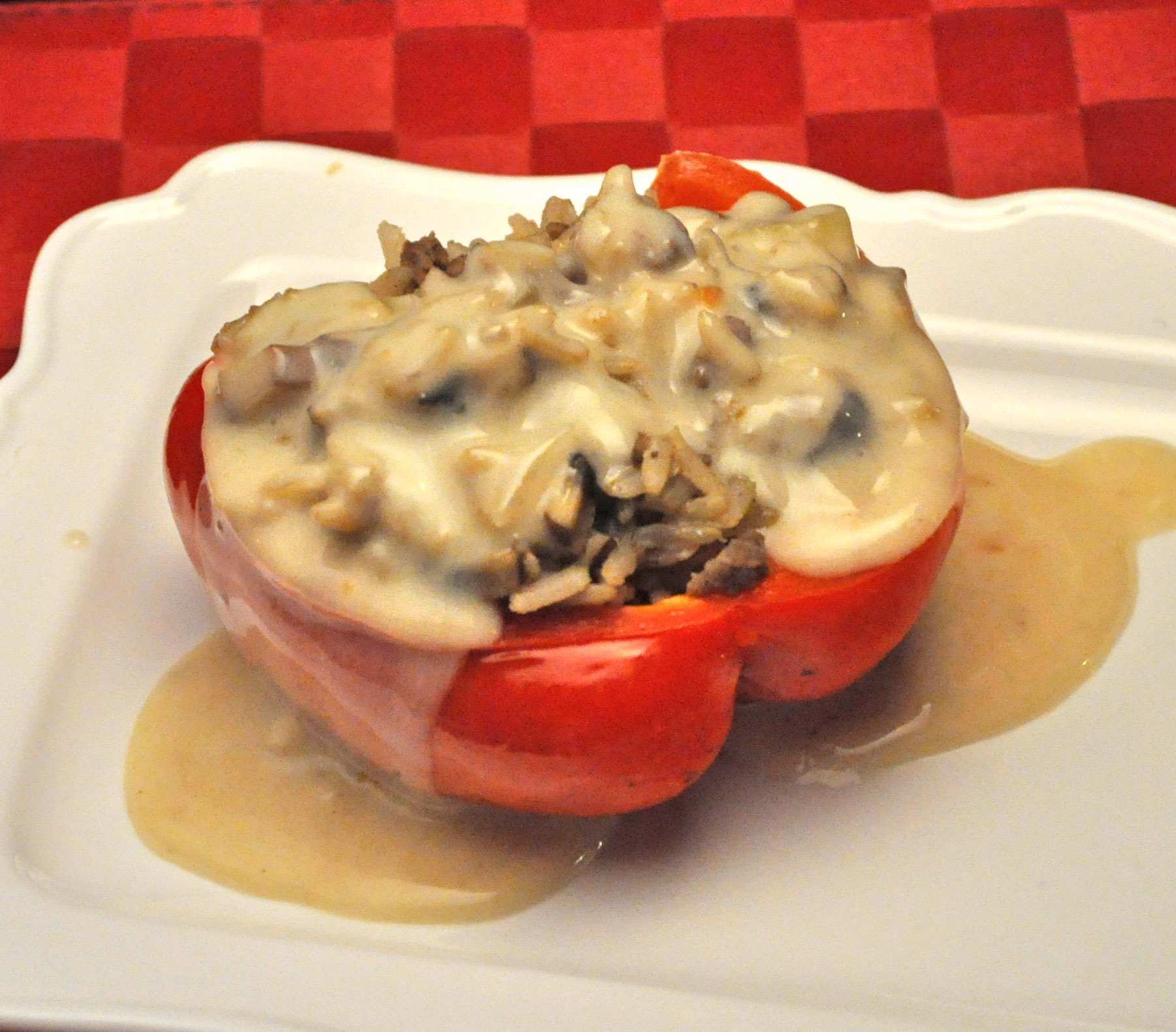 Beef Stroganoff Stuffed Peppers